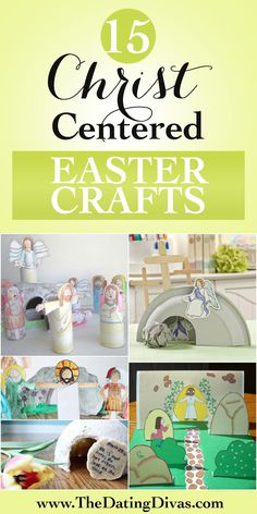 FUN Christian Easter Crafts for Kids!  Great ideas to go beyond the Easter Bunny to the real reason behind Easter.