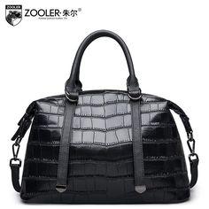 2017 New zooler genuine leather women bag brand fashion quality cowhide boston  bag women leather handbags 73e56a5f5c289
