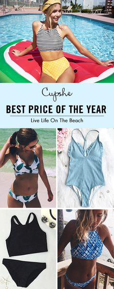 To enjoy the sun, or travel to the beach, Cupshe bikinis are fashionable and affordable. Various styles, high quality and great service! FREE shipping~ Check now.