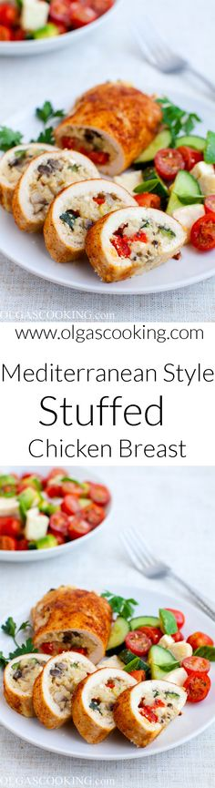 Mediterranean Style Stuffed Chicken Breast