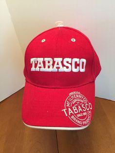 7694de62fd3 TABASCO Red Ball Cap New Hat Adjustable Velcro Back  BaseballCap