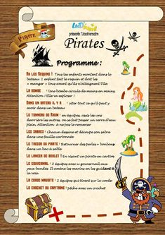 Lud Wake Up præsenterer sit Pirate Birthday Theme . Pirate Birthday, Pirate Theme, Birthday Fun, Pirate Activities, Activities For Kids, Party Mottos, Pirate Kids, Pirate Crafts, Diy Crafts For Kids