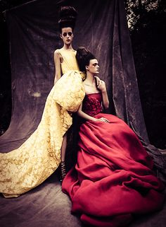 ♥ Romance of the Maiden ♥ couture gowns worthy of a fairytale - Alta Moda Vogue Italia September 2013 by Paolo Roversi