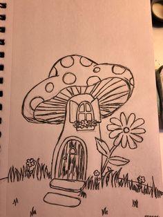 Indie Drawings, Art Drawings Sketches Simple, Cute Drawings, Drawings Of Flowers, Random Drawings, Dark Drawings, Tattoo Design Drawings, Cool Sketches, Pencil Art Drawings