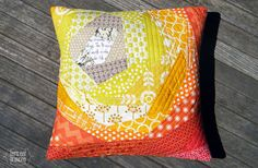 If the price was too high for the pillow I made for the Newtown Auction earlier this year, I have another, similar Bloomin' quilt-as-you-go pillow up for bid at author Brenda Novak's Di…