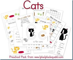 Cats Preschool Pack {free}