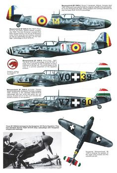 Other Air Force Bf109 users, captured aircraft, Avia S-199s and Hispano HA-1112s (20)
