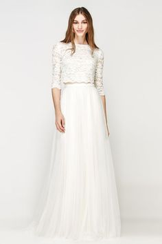 Lace two pieces and tulle Wedding Gown by Willowby