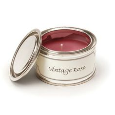 Vintage Rose Filled Tin by Pintail Candles