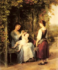 Tickling the Baby, Fritz Zuber, Buhler