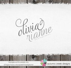 Premade Photography Photographer Logo - Romantic Swirls Boutique Logo Design. $40.00, via Etsy.