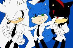 sonic shadow y silver anime human - Buscar con Google