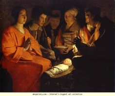 Georges de La Tour. The Adoration of the Shepherds. Olga's Gallery.