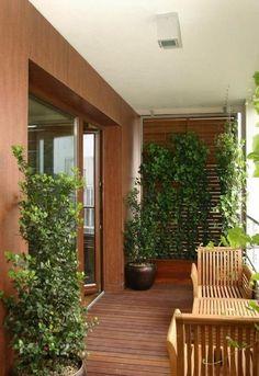 narrow balcony tips balcony design wood flooring cladding climbers Narrow Balcony, Small Balcony Design, Small Balcony Garden, Balcony Ideas, Roof Balcony, Small Balconies, Back Garden Landscape Design, Garden Design, House Design