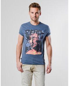 T-shirt Trent blauw
