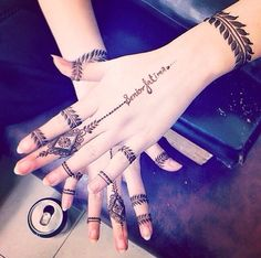 Henna Tattoo Designs - Easy Henna Tattoo Designs on Hand for Girl. Latest collection henna designs images gallery with simple and easy pattern on hand Finger Henna Designs, Henna Art Designs, Modern Mehndi Designs, Dulhan Mehndi Designs, Mehndi Design Photos, Mehndi Designs For Fingers, Latest Mehndi Designs, Mehendi, Simple Henna Tattoo