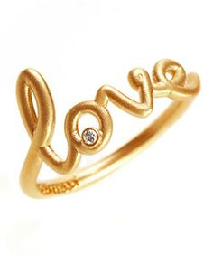 Avanessi Yellow Gold Love Ring    Width: .70 inch  Stone: Diamond  Metal: 14k gold