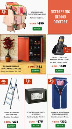 Shop Refreshing New Home Utilities on EMI! Hurry -  Up to 34% OFF! Emibazaar.com