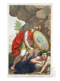 Perseus Beheads Medusa, Book IV, Illustration from Ovid's Metamorphoses, Florence, 1832 Giclee Print by Luigi Ademollo at Art.com
