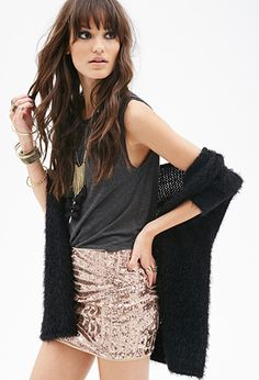 Abstract Sequined Mini Skirt | FOREVER21 - 2000130016