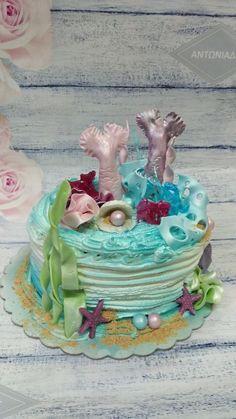 Seabed Summer Cakes, Snow Globes, Desserts, Food, Decor, Tailgate Desserts, Deserts, Decoration, Eten