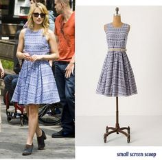 - Quinn Fabray Glee Fashion Anthropologie Dress / Dresses Dianna Agron Diana Agron Source by - Cute Church Outfits, Pretty Outfits, Pretty Dresses, Beautiful Outfits, Blue Dresses, Cute Outfits, Dresses Dresses, Glee Fashion, Fashion Outfits
