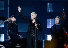 Pin for Later: The 5 Grammy Performances You Have to Watch If You Skipped the Show Annie Lennox and Hozier