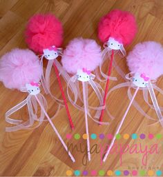 HK Party Favor Wands Six Piece by MyaPapayaBoutique on Etsy, $22.00