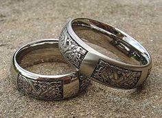 celtic titanium rings