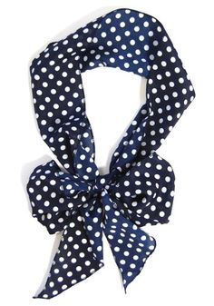 one of my favorite fashions-navy with white polks dots!