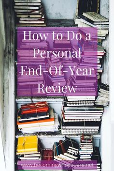 A personal end-of-year review is a powerful way to reflect on the last 12 months and plan for the year ahead. Click to discover how to create yours (template included) >>> | www.becomingwhoyouare.net Self Development, Personal Development, Year End Reflection, Annual Review, Life Review, The Desire Map, Get Your Life, End Of Year, Journal Prompts
