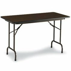 """CORRELL Folding Tables with Melamine Top by CORRELL. $154.48. CORRELL Folding Tables with Melamine Top are scratch-resistant for durability. 5/8"""" particleboard core and protective bull-nose edging. 15/8"""" one-piece steel apron. 18-gauge steel folding legs with mar-proof plastic foot caps."""