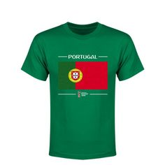 Portugal 2018 FIFA World Cup Russia™ Flag Youth T-Shirt (Green)