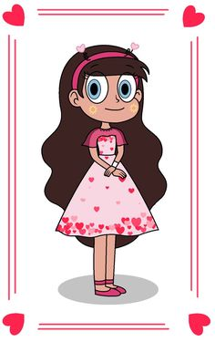 Valentine Dress by star butterfly 035 Starco, Cartoon Pics, Girl Cartoon, Sports Locker Decorations, Character Concept, Character Design, Pinterest Valentines, Star Y Marco, Party Like Its 1999