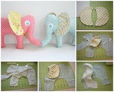 Patrones para hacer un peluche de elefante de tela