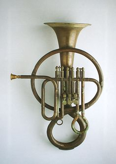 Bass Fluegel Horn in B-flat by Ferdinando Roth (Italian) Italy Brass Dimensions: L.: 54 cm in.) Aerophone-Lip Vibrated The Crosby Brown Collection of Musical Instruments, 1889 Horn Instruments, Brass Musical Instruments, Trombone, Music Wall, Art Music, Sound Sculpture, Homemade Instruments, Music Machine, French Horn