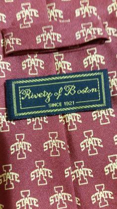 NEW Riverty of Boston Geometric 100%Silk Multi Color Classic Mens Neck Tie #RivertyofBoston #NeckTie