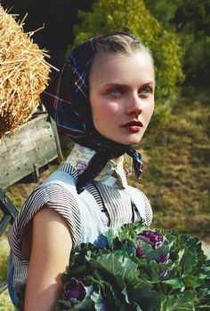 "Kamila Filipcikova/Vogue Italia February 2008 ""Living Green"" by Steven Meisel."