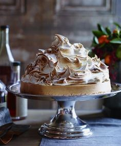 Sweet Potato Cheesecake with Marshmallow Meringue. A show-stopper of a Thanksgiving dessert!