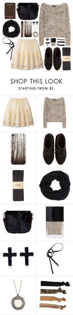 """She Exhales Vanilla Lace"" by alayaya ❤ liked on Polyvore featuring Sonia Rykiel, Dorothy Perkins, A.P.C., Sole Society, Nomadic, Butter London, River Island, H&M, Marie Chavez and Glam Bands"