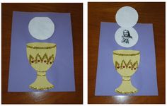 Eucharist craft -- to help children understand that Jesus is truly present in the Eucharist. Although Jesus is hidden, He is truly there.