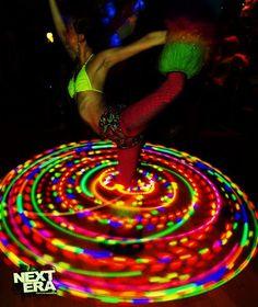 38 LED Hula Hoop // Caribbean Strobe by CitivaCreationz on Etsy, $85.00