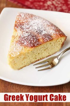 An easy recipe for an incredibly moist and fluffy Greek yogurt cake. Made with a… An easy recipe for an incredibly moist and fluffy Greek yogurt cake. Made with almond flour, this cake is also low carb and gluten free. Healthy Food Blogs, Healthy Dessert Recipes, Healthy Baking, Greek Dessert Recipes, Healthy Yogurt, Recipes For Desserts, Diabetic Cake Recipes, Healthy Cheesecake Recipes, Dinner Recipes