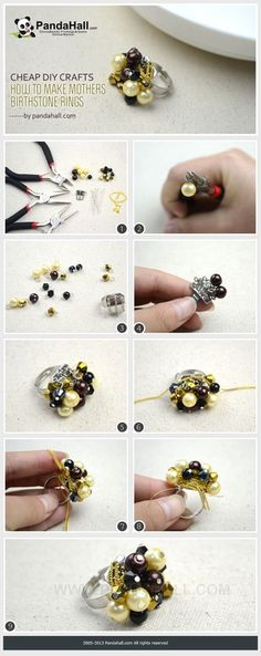 Jewelry Making Idea--How to Create Cheap DIY Pearl Beads Ring | PandaHall Beads Jewelry Blog