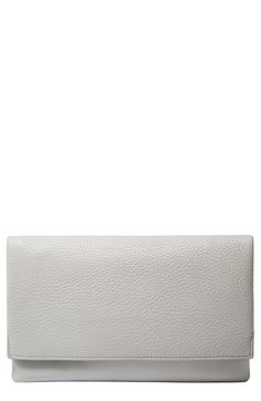 Skagen Leather Flap Clutch available at #Nordstrom $125