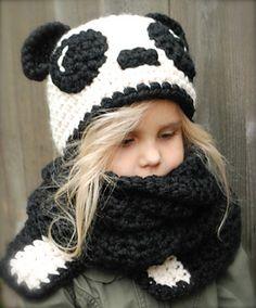 Panda hat/scarf