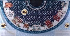 Wintersburg Christmas Tree Skirt Fabric Panel OOP 100% Cotton Sewing Crafts #southseaimports
