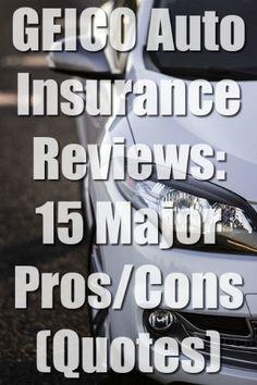 GEICO Auto Insurance Reviews: 15 Major Pros/Cons (Quotes)  #GEICO #autoinsurance #Insurance Best Car Insurance, Quotes, Check, Quotations, Quote, Shut Up Quotes