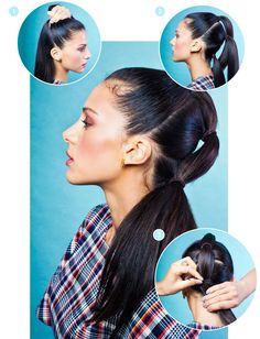 Bungee Hair Ties Styling Tools | How to use and style your hair with a bungee. #refinery29 http://www.refinery29.com/bungee-hair-ties