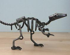 Dinosaur Bones Skeleton Fossil - Metal Nuts and Bolts Statue Desk Sculpture - boys Room Decor - Birthday Gift, Anniversary Gift